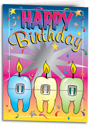 Dental Birthday Folding Card