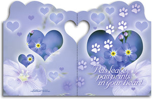 Pets Leave Pawprints Die-cut Sympathy Folding Card
