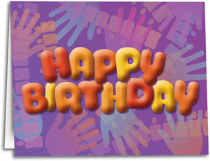 Happy Birthday Hands Folding Card