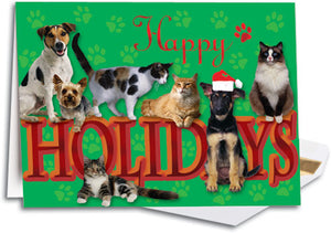 Green Paw Deluxe Folding Card