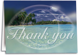 Scenic Beach Thank You Folding Card