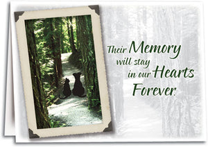 Golden Pet Memory Sympathy Folding Card