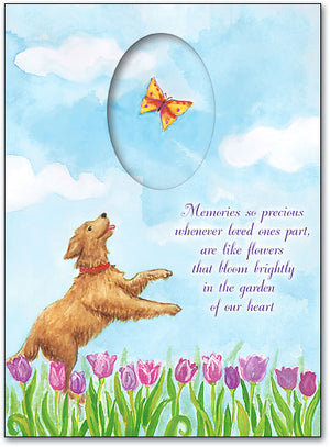 Dog and Butterfly Sympathy Folding Card