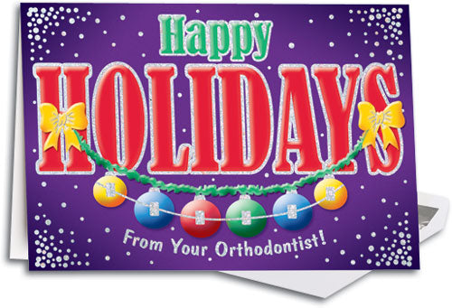 Holiday Braces and Bulbs Deluxe Folding Card