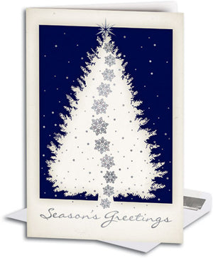Blue Chiro Tree Deluxe Folding Card