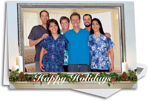 Holiday Mantle Customizable Folding Card