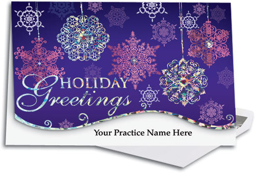 Jeweled Snowflakes Premium Folding Card