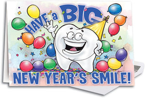Big New Year Smile Customizable Traditional Folding Card