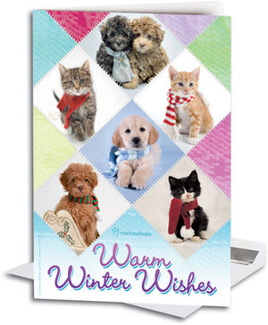 Warm Winter Wishes Deluxe Folding Card