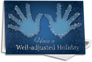 Well Adjusted Holiday Deluxe  Folding Card
