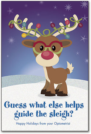 Guide The Sleigh Customisable Folding Card