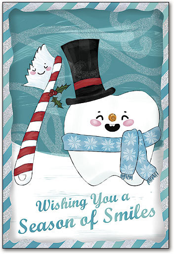 Snowman Tooth Folding Card