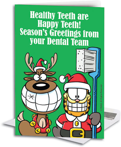 Grinning Greetings Deluxe Folding Card