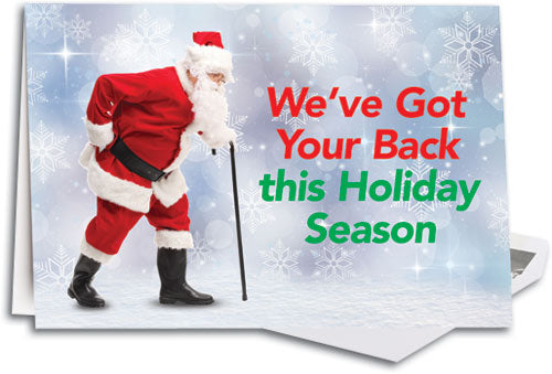 Straighten Up Santa Folding Card