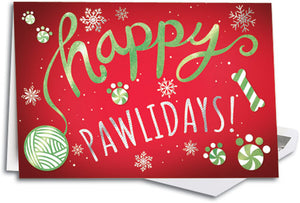 Peppermint Paws Folding Card