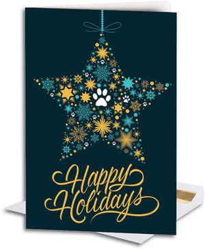 Star Paws Ornament Folding Card