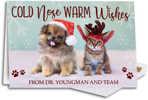 Cold Nose Warm Heart Folding Card