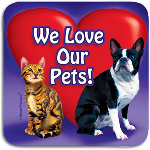We Love Our Pets Sticker