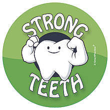 Muscle Tooth Sticker