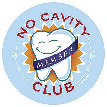 No Cavity Club Sticker