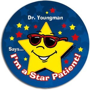 Star Patient Personalised Sticker