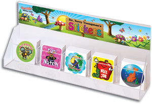 Sqwiggly Sticker Dispenser with Personalized Banner