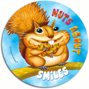 Nuts Over Smiles Sticker