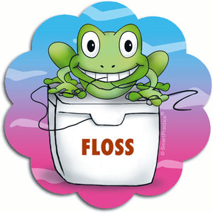 Flossing Frog Sticker