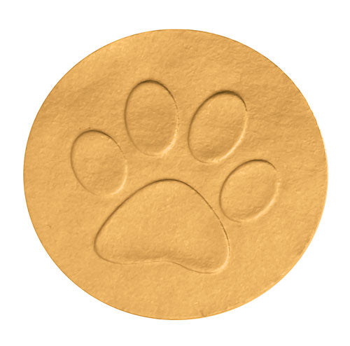 Gold Foil Embossed Paw Print Envelope Seal