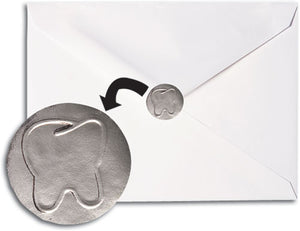"Silver Foil 1"" Embossed Tooth Envelope Seal"