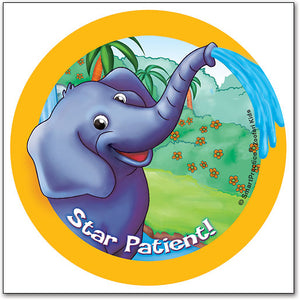 Sqwiggly® Zoofari Stickers, Elephant Star Patient