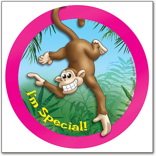 Sqwiggly® Zoofari Stickers, Monkey I'm Special