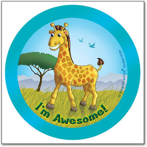 Sqwiggly® Zoofari Stickers, Giraffe I'm Awesome