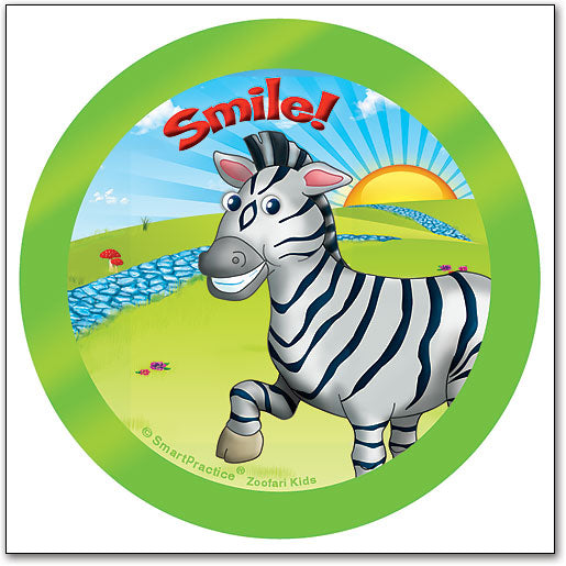 Sqwiggly® Zoofari Stickers, Zebra Smile