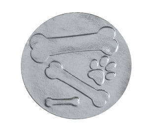 "Silver Foil, 1"" Embossed Bone Envelope Seal"