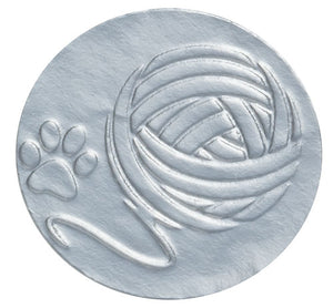 "Silver Foil, 1"" Embossed Yarn Envelope Seal"