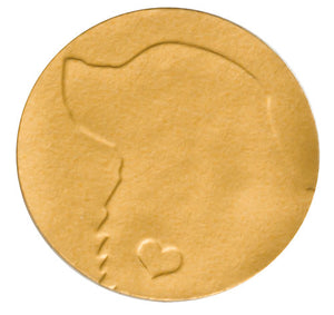 Gold Foil Embossed Dog Envelope Seal