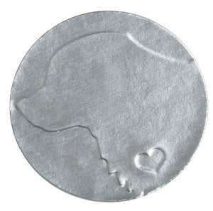 "Silver Foil, 1"" Embossed Dog Envelope Seal"