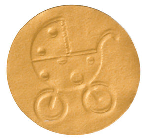 Gold Foil Baby Buggy Envelope Seal