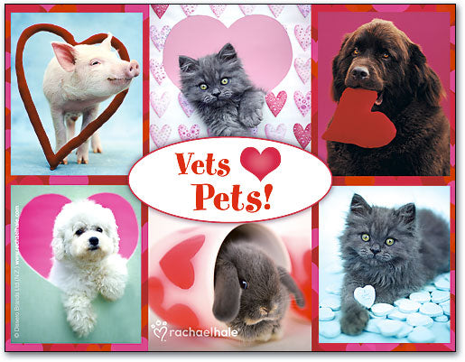 Pets and Hearts Laser Card