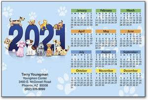Playful Dogs & Cats ReStix™ Sticker Calendar