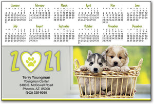 Puppy Basket ReStix™ Sticker Calendar