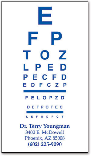 One-color Eye Chart Magnet