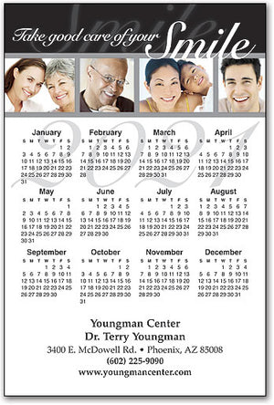 Take Care of Your Smile Calendar Magnet