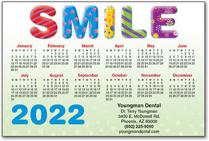 Bubble Smile Calendar Magnet