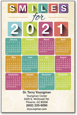 New Year Blocks Calendar Magnet