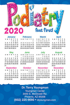 Podiatry Feet First Calendar Magnet
