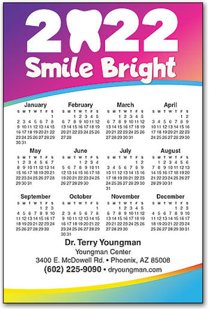 Bright Year Ahead Calendar Magnet