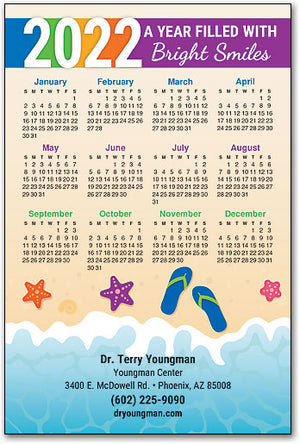 Beachy Smiles Customizable Calendar Magnet