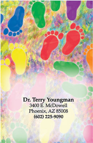 Watercolor Feet Magnet